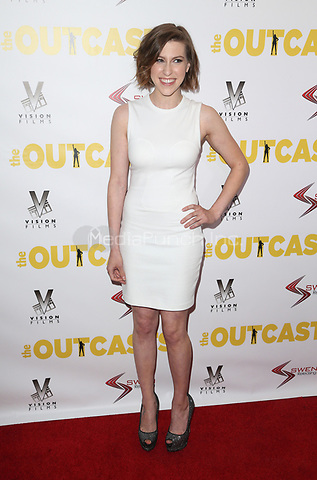 "WESTWOOD, CA - April 13: Eden Sher, At Premiere Of Swen Group's ""The Outcasts"" At The Landmark Regent  In California on April 13, 2017. Credit: FS/MediaPunch"