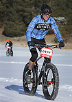 DEADWOOD, SD - JANUARY 23, 2016 -- Kent Renaud #199 rides in the men's open class fat tire bike race during the 2016 Snow Jam Points Series at Tomahawk Country Club south of Deadwood, S.D. Saturday. (Photo by Richard Carlson/dakotapress.org)