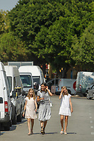 PALMA DE MALLORCA, SPAIN &ndash; AUGUST 04: Queen Letizia, Princess Leonor and Princess Sofia pick up King Felipe at the end of the last day of the King Cup regatta at the Royal nautical club in Palma de Mallorca, Spain on the 4th of August of 2018. ***NO SPAIN***<br /> CAP/MPI/RJO<br /> &copy;RJO/MPI/Capital Pictures