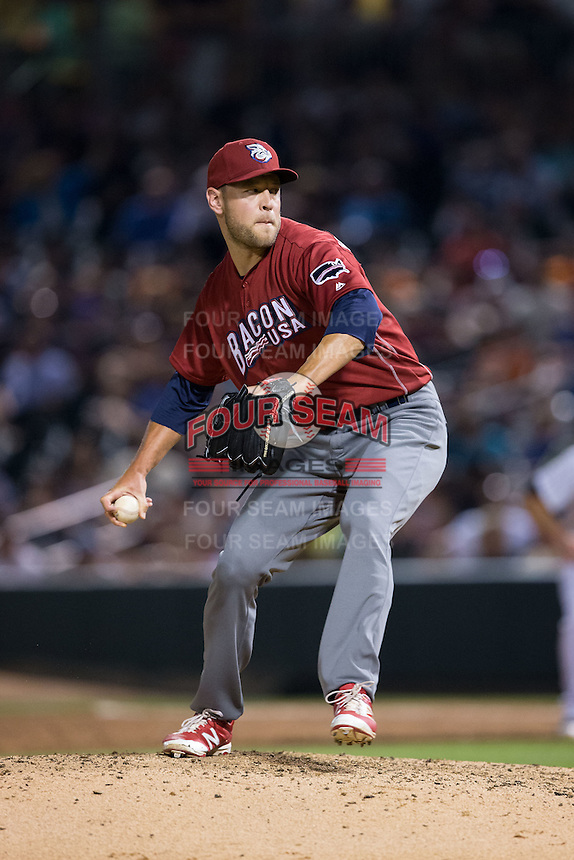 Lehigh Valley Iron Pigs relief pitcher Frank Herrmann (17) in action against the Charlotte Knights at BB&T BallPark on June 3, 2016 in Charlotte, North Carolina.  The Iron Pigs defeated the Knights 6-4.  (Brian Westerholt/Four Seam Images)