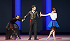 Bolshoi Ballet <br /> The Taming of the Shrew <br /> choreography by Jean-Christophe Maillot <br /> at The Royal Opera House, Covent Garden, London, Great Britain <br /> rehearsal of act 1<br /> 3rd August 2016 <br /> <br /> <br /> Yulia Gebenshchikova as The Widow<br /> Igor Tsvirko as Hortensio <br /> Olga Smirnova as Bianca <br /> <br /> <br /> <br /> <br /> <br /> Photograph by Elliott Franks <br /> Image licensed to Elliott Franks Photography Services