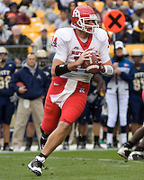 October 25, 2008: Rutgers quarterback Mike Teel . The Rutgers Scarlet Knights defeated the Pitt Panthers 54-34 on October 25, 2008 at Heinz Field, Pittsburgh, Pennsylvania.