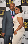 LOS ANGELES, CA. - March 05: Actress Mo'Nique (R) and husband Sidney Hicks arrive at the 25th Film Independent Spirit Awards held at Nokia Theatre L.A. Live on March 5, 2010 in Los Angeles, California.