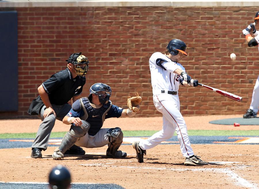 Umpires at the 2011 NCAA Baseball Regionals held June 3-4 at Davenport Stadium in Charlottesville, Va.  Virginia hosted Navy, St. John's and the East Carolina University Pirates. Photo/Andrew Shurtleff