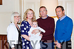 Little Maria Louise Fitzgerald, Ballaugh, Killarney who celebrated her christening with her parents Des and Louise and god parents PJ Fitzgerald and Susan Perry in the Torc Hotel Killarney on Sunday