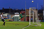 York City 2 Spennymoor Town 2, 20/01/2018. Bootham Crescent, National League North. Adam Bartlett of York fingertips a shot over the bar.  Photo by Paul Thompson.