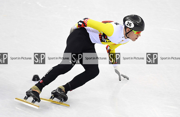 Jens Almey (BEL). Short track. Gangneung ice arena. Pyeongchang2018 winter Olympics. Gangneung. Republic of Korea. 10/02/2018. ~ MANDATORY CREDIT Garry Bowden/SIPPA - NO UNAUTHORISED USE - +44 7837 394578