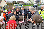 A group of angry supporters for the yet unopened €10m community hospital in Tralee who were kept outside the gates of the premises last Friday told Health Minister Dr James Reilly and Minister Jimmy Deenihan that they were very disappointed that the facility has not yet opened.