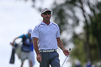 John Wade (AUS) on the 18th during Round 1 of the ISPS HANDA Perth International at the Lake Karrinyup Country Club on Thursday 23rd October 2014.<br /> Picture:  Thos Caffrey / www.golffile.ie