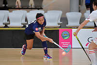 Malaysia's Nur Anis Amyzaa Binti Zakaria in action during the World Floorball Championships 2017 Qualification for Asia Oceania Region - Malaysia v China at ASB Sports Centre , Wellington, New Zealand on Sunday 5 February 2017.<br />