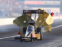Sep 3, 2017; Clermont, IN, USA; NHRA top fuel driver Leah Pritchett during qualifying for the US Nationals at Lucas Oil Raceway. Mandatory Credit: Mark J. Rebilas-USA TODAY Sports