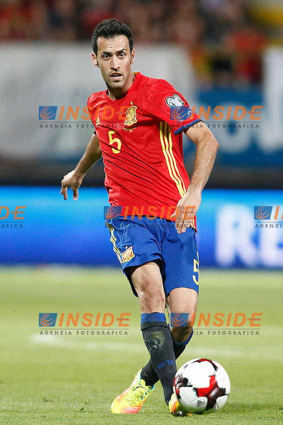 Spain's Sergio Busquets during FIFA World Cup 2018 Qualifying Round match. September 5,2016.(ALTERPHOTOS/Acero)<br /> Spagna - Liechtenstein <br /> Foto Insidefoto <br /> ITALY ONLY