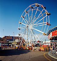 Ferris Wheel, Yankee Doodle Carousel & the Aqua Circus Wildwood, NJ. 1960's