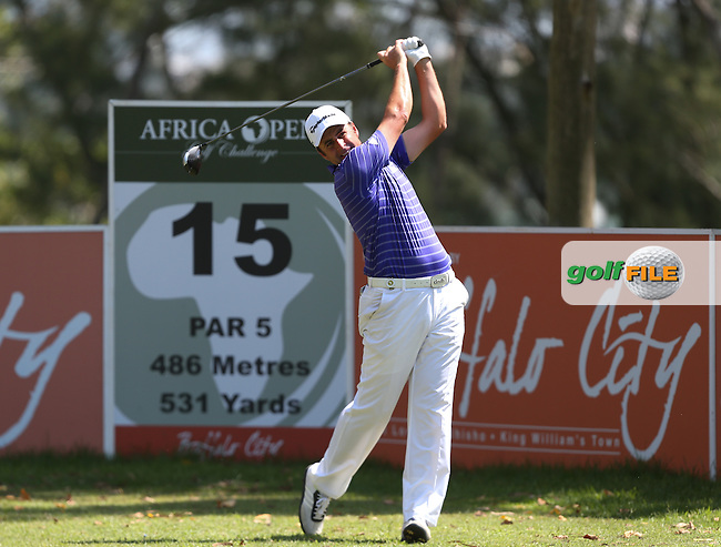 Richard Bland (ENG) produced an unblemished front nine of 31 and a front of 33 for a round of 67 and T3 during Round Three of The Africa Open 2014 at the East London Golf Club, Eastern Cape, South Africa. Picture:  David Lloyd / www.golffile.ie