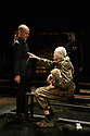 EMBARGOED UNTIL 10PM 16.06.16. London, UK. 13.06.2016. Richard II, by William Shakespeare, directed by Rupert Goold, opens at the Almeida Theatre. Starring Vanessa Redgrave as Queen Margaret and Ralph Fiennes as Richard, Duke of Gloucester. Picture shows: Finbar Lynch (Duke of Buckingham), Vanessa Redgrave (Queen Margaret). Photograph © Jane Hobson.