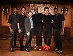 John Edwards, Dwayne Cooper,Joshua Bergasse, Jelani Remy, Max Sangerman and Kyle Taylor Parker attends the photo call for the new production of 'Smokey Joe's Cafe' at Feinstein's/54 Below on June 27, 2018 in New York City.
