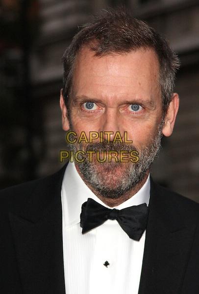 HUGH LAURIE.The GQ Men of the Year 2011 - Arrivals.London, England..September 6th, 2011.headshot portrait black white bow tie tuxedo beard facial hair .CAP/ROS.©Steve Ross/Capital Pictures
