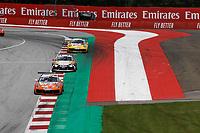 12th July 2020; Spielberg, Austria;  Porsche Mobil 1 Supercup race day;  26 Jesse van Kuijk NL, Team GP Elite 15 Jukka Honkavuori SF, MRS GT-Racing 30 Lucas Groenveld NL, GP Elite held at Spielberg Austria