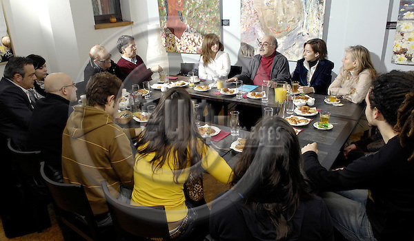 Brussels-Belgium - 22 February 2008---Guillermo HERAS, Director of Iberescena (theater, Spain), during a breakfast with aficionados---Photo: Horst Wagner / eup-images