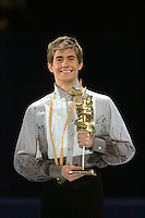 November 19, 2005; Paris, France; Figure skating star JEFFREY BUTTLE of Canada wins gold at Trophee Eric Bompard, ISU Paris Grand Prix competition.  Buttle is one of the favorites in mens leading up to Torino 2006 Olympics.<br />Mandatory Credit: Tom Theobald/<br />Copyright 2005 Tom Theobald