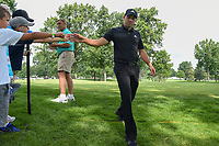 Sergio Garcia (ESP) high fives young fans as he heads to 3 during 1st round of the World Golf Championships - Bridgestone Invitational, at the Firestone Country Club, Akron, Ohio. 8/2/2018.<br /> Picture: Golffile | Ken Murray<br /> <br /> <br /> All photo usage must carry mandatory copyright credit (© Golffile | Ken Murray)