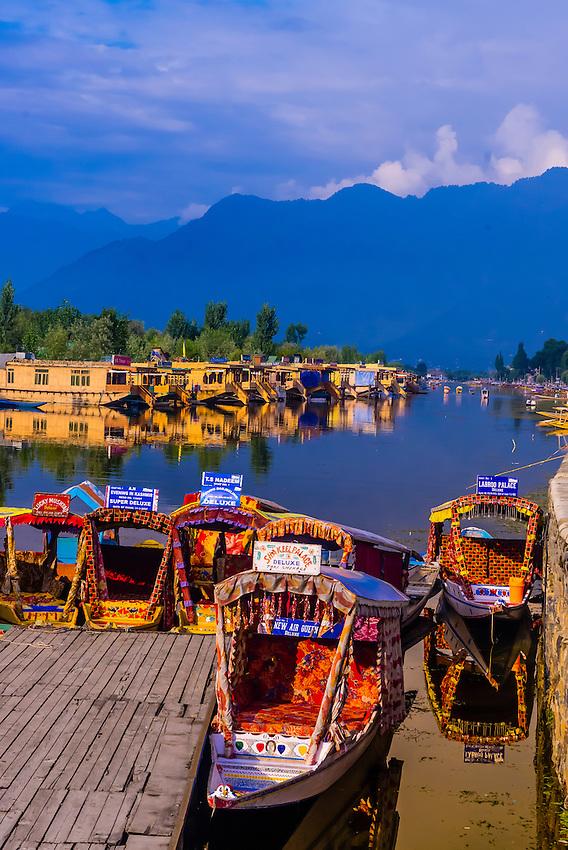 Dal Lake, Srinagar, Kashmir, Jammu and Kashmir State; India.