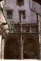 Europe/France/Auvergne/12/Aveyron/Rodez: La maison Benoit - Détail galerie gothique