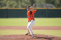 San Francisco Giants relief pitcher Logan Webb (50) delivers a pitch to the plate during an Instructional League game against the Kansas City Royals at the Giants Training Complex on October 17, 2017 in Scottsdale, Arizona. (Zachary Lucy/Four Seam Images)