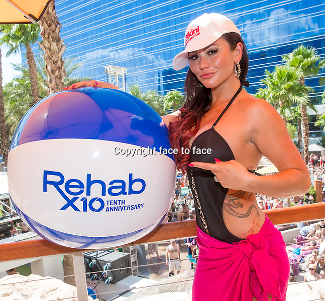 LAS VEGAS, NV - July 7: Jenni 'JWoww' Farley hosts REHAB Bikini Invitational 2013 at Rehab Pool Party at Hard Rock Hotel &amp; Casino on July 7, 2013 in Las Vegas, Nevada.<br />
