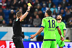 01.12.2018, wirsol Rhein-Neckar-Arena, Sinsheim, GER, 1 FBL, TSG 1899 Hoffenheim vs FC Schalke 04, <br /> <br /> DFL REGULATIONS PROHIBIT ANY USE OF PHOTOGRAPHS AS IMAGE SEQUENCES AND/OR QUASI-VIDEO.<br /> <br /> im Bild: Gelbe Karte fuer Daniel Caligiuri (FC Schalke 04 #18)<br /> <br /> Foto &copy; nordphoto / Fabisch