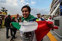 Fan&aacute;tico del beisbol con bandera de Mexico. Aspectos del partido Mexico vs Italia, durante Cl&aacute;sico Mundial de Beisbol en el Estadio de Charros de Jalisco.<br /> Guadalajara Jalisco a 9 Marzo 2017 <br /> Luis Gutierrez/NortePhoto.com