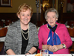 Mary Murphy and Eileen Gillispie pictured at the Collon Senior Citizens Christmas party in Watter's. Photo:Colin Bell/pressphotos.ie