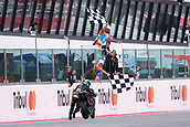 10th September 2017, Misano World Circuit, Misano Adriatico, San Marino; San Marino MotoGP, Sunday Race Day;  JOHANN ZARCO - FRENCH - MONSTER YAMAHA TECH 3 - YAMAHA pushes his bike across the finish line