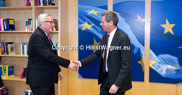 Brussels - Belgium, 20.11.2018 -- Jean-Claude JUNCKER (le), President of the European Commission, receives Ambassador Michael CLAUSS (Clauß)(ri), Permanent Representative of Germany to the EU -- Photo: © HorstWagner.eu