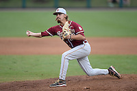 Florida State Seminoles pitcher Gage Smith (19) during a game against the South Florida Bulls on March 5, 2014 at Red McEwen Field in Tampa, Florida.  Florida State defeated South Florida 4-1.  (Mike Janes/Four Seam Images)