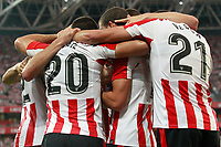 Athletic Club de Bilbao's players celebrate goal during Europa League Third Qualifying Round, 2nd leg. April 5,2012. (ALTERPHOTOS/Acero) /NortePhoto.com