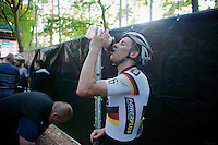 Philipp Walsleben (BKCP-Powerplus) post-race with recovery shake<br /> <br /> GP Neerpelt 2014