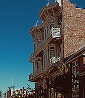 San Diego: Horton Grand Hotel.  Originally built by Comstock & Trotsche on F St., 1886. NHRP 1980. (Photo '90)