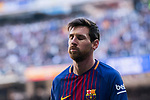 Lionel Andres Messi of FC Barcelona reacts during the La Liga 2017-18 match between Real Madrid and FC Barcelona at Santiago Bernabeu Stadium on December 23 2017 in Madrid, Spain. Photo by Diego Gonzalez / Power Sport Images