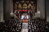 Former president George Herbert Walker Bush memorial ceremony at the National Cathedral in Washington, Wednesday,  Dec.. 5, 2018.  <br /> <br /> CAP/MPI/RS<br /> &copy;RS/MPI/Capital Pictures