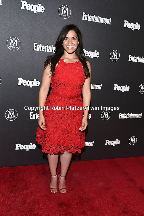 America Ferrera attends the Entertainment Weekly &amp; PEOPLE Magazine New York Upfronts Celebration on May 16, 2016 at Cedar Lake in New York, New York, USA.<br /> <br /> photo by Robin Platzer/Twin Images<br />  <br /> phone number 212-935-0770