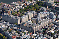 Seminaire de Quebec is pictured in the Old Quebec district of Quebec city in this aerial photo Thursday September 3, 2015. The Seminary of Quebec (French: Seminaire de Quebec) is a Roman Catholic community of priests in Quebec City founded by Bishop Francois de Laval, the first bishop of New France in 1663
