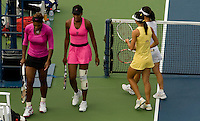 Serena Williams (USA) (4) & Venus Williams (USA) (4) against Jie Zheng (CHN) (11) & Zi Yan (CHN) (11) in the Quarterfinals of the Women's Doubles. Williams & Williams beat Yan & Zheng 7-5 6-4..International Tennis - US Open - Day 10 Wed 09  Sep 2009 - USTA Billie Jean King National Tennis Center - Flushing - New York - USA..© Frey Images, Barry House, 20-22 Worple Road, London, SW19 4DH.Tel - +44 20 8947 0100.Cell - +44 7843 383 012.Email - mfrey@advantagemedianet.com
