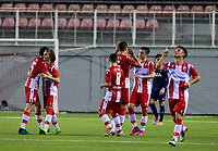 6th November 2019; Vozdovac Stadium, Belgrade, Serbia; UEFA Under 19 UEFA Youth league football, FK Crvena Zvezda under 19s versus Tottenham Hotspur under 19s; The players of FK Crvena Zvezda celebrate the goal for 2-0