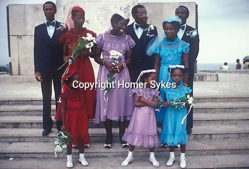 Wedding party Monrovia Liberia West Africa. 1980s.