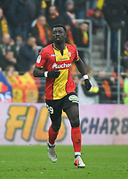 20181124 - LENS , FRANCE : Lens' Grejonh Kyei pictured during the soccer match between Racing Club de LENS and Grenoble Foot 38, on the 15th  matchday in the French Dominos pizza Ligue 2 at the Stade Bollaert Delelis stadium , Lens . Saturday 24 Novembre 2018 . PHOTO DIRK VUYLSTEKE | SPORTPIX.BE