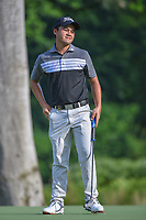 Phuong Toan NGUYEN (VIE) reacts to barely missing his putt on 3 during Rd 1 of the Asia-Pacific Amateur Championship, Sentosa Golf Club, Singapore. 10/4/2018.<br /> Picture: Golffile | Ken Murray<br /> <br /> <br /> All photo usage must carry mandatory copyright credit (&copy; Golffile | Ken Murray)