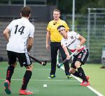 AMSTELVEEN -Johannes Mooij (A'dam)  tijdens  de  eerste finalewedstrijd van de play-offs om de landtitel in het Wagener Stadion, tussen Amsterdam en Kampong (1-1). Kampong wint de shoot outs.  . COPYRIGHT KOEN SUYK