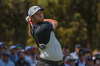 Jon Rahm (ESP) watches his tee shot on 11 during round 1 of the World Golf Championships, Mexico, Club De Golf Chapultepec, Mexico City, Mexico. 3/1/2018.<br /> Picture: Golffile | Ken Murray<br /> <br /> <br /> All photo usage must carry mandatory copyright credit (&copy; Golffile | Ken Murray)