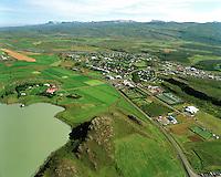 Egilsstaðir séð til norðausturs..Egilsstadir viewing northeast.